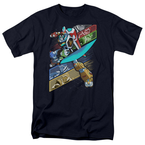 "Voltron Legendary Defenders ""Crisscross"" Mens Adult Unisex T-Shirt -Sm to 4x 100% Cotton High Quality Pre Shrunk Machine Washable T Shirt"
