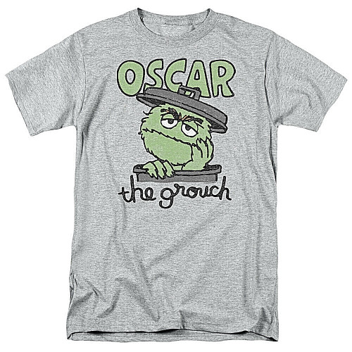 Sesame Street Oscar the Grouch Mens Unisex T-Shirt, Available Sm to 3x 100% Cotton High Quality Pre Shrunk Machine Washable T Shirt