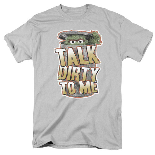 "Sesame Street Oscar the Grouch Talk Dirty to Me"" Mens T-Shirt, Available Sm > 3x 100% Cotton High Quality Pre Shrunk Machine Washable T Shirt"