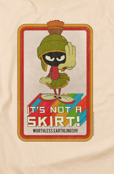"Marvin the Martian ""Its not a skirt..."" Mens Unisex T-Shirt. Available Sm to 3x 100% Cotton High Quality Pre Shrunk Machine Washable T Shirt"