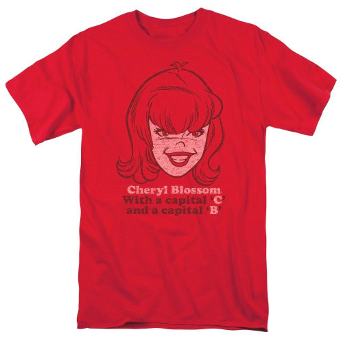"Archie Comics ""Cheryl Blossom"" Adult Unisex T-Shirt, Available in Sm to xxL 100% Cotton High Quality Pre Shrunk Machine Washable T Shirt"