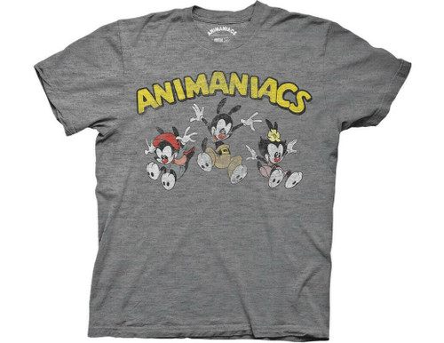 "ANIMANIACS ""JUMPING GROUP WITH LOGO"" Mens Unisex T-shirt -Available Sm to 2x 100% Cotton High Quality Pre Shrunk Machine Washable T Shirt"