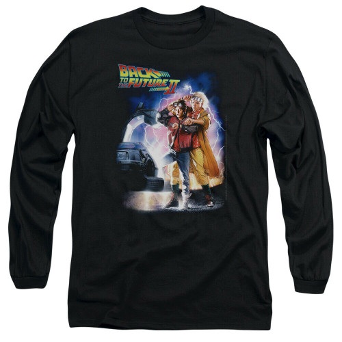 Back to the Future II Poster Mens Long Sleeve Unisex T-Shirt -Available sm to 3x 100% Cotton High Quality Pre Shrunk Machine Washable Long Sleeve