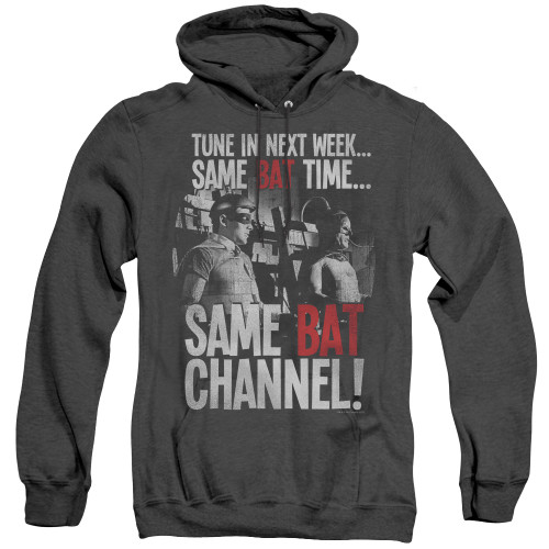 """Batman """"Same Bat-Channel"""" Men's Unisex Pull-Over Hoodie, Available Sm to 3x"""
