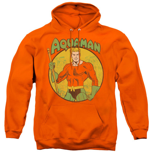 "Aquaman ""Posing with Trident"" Mens Unisex Hoodie Available Sm to 3x 100% Cotton High Quality Pre Shrunk Machine Washable Hoodie"