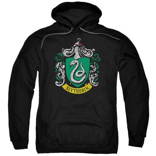 "Harry Potter ""Slytherin"" School Crest Mens Unisex Hoodie Available Sm to 3x 100% Cotton High Quality Pre Shrunk Machine Washable Hoodie"