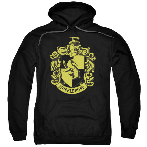 "Harry Potter ""Hufflepuff"" School Crest Mens Unisex Hoodie Available Sm to 3x 100% Cotton High Quality Pre Shrunk Machine Washable Hoodie"