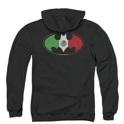 Batman mexican flag shield pull over hoodie 75% Cotton/ 25% Polyester High Quality Pre Shrunk Machine Washable Hoodie