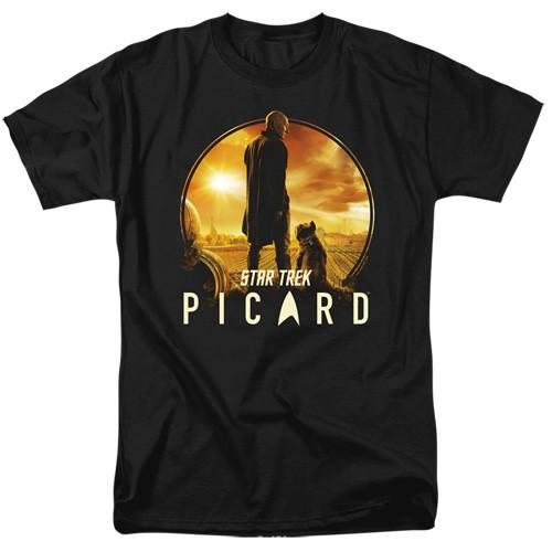 Star Trek Picard-A man and his dog 100% Cotton High Quality Pre Shrunk Machine Washable T Shirt