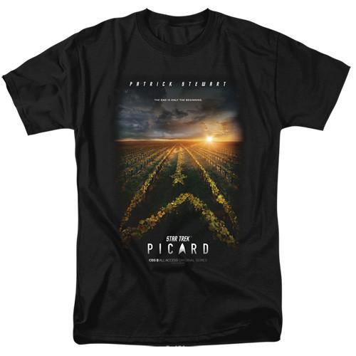 St Trek Picard-Poster 100% Cotton High Quality Pre Shrunk Machine Washable T Shirt