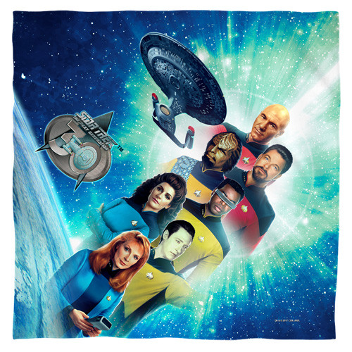 star trek-30 crew  100% polyester light weight ultra-soft feel size 22x22 bandana