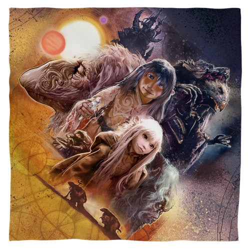 Dark Crystal -Painted poster bandana 100% polyester light weight ultra-soft feel size 22x22