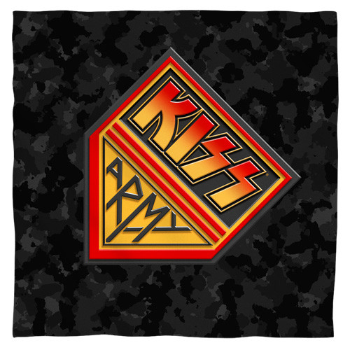 Kiss -Army Bandana 100% polyester light weight ultra-soft feel size 22x22
