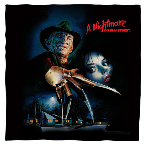Nightmare on elm st-Freddy Poster bandana 100% polyester light weight ultra-soft feel size 22x22