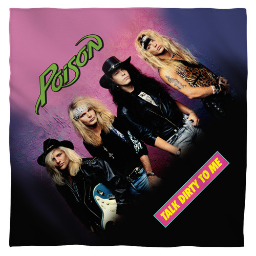 Poison Band-Talk Dirty bandana 100% polyester light weight ultra-soft feel size 22x22