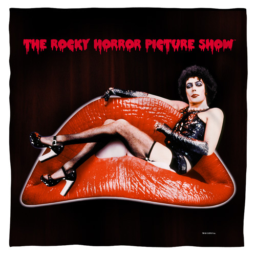 Rocky Horror Picture Show-Frank lips 100% polyester light weight ultra-soft feel size 22x22 bandana