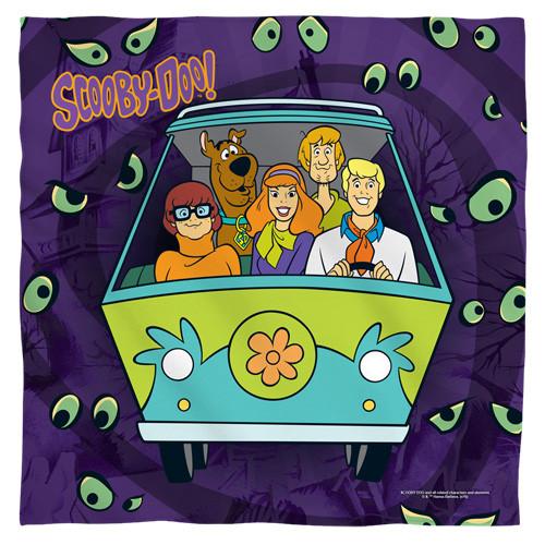 Scooby Doo-Night ride bandana 100% polyester light weight ultra-soft feel size 22x22