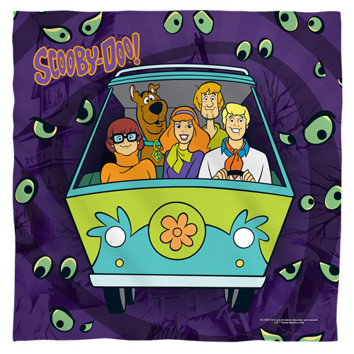 Scooby Doo-Night ride bandana 100% polyester light weight ultra-soft feel size 22x22
