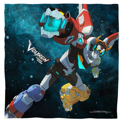 Voltron-Defender of the Universe bandana 100% polyester light weight ultra-soft feel size 22x22