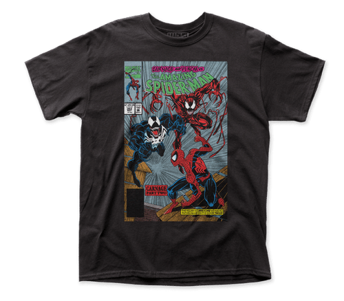 Spiderman-Carnage Pt 2 adult unisex t-shirt 100% Cotton High Quality Pre Shrunk Machine Washable T Shirt
