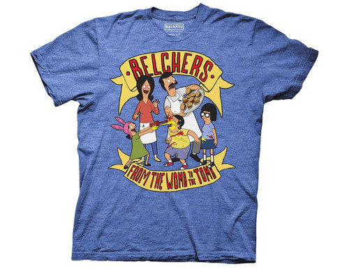 Bobs Burgers Belchers from the womb to the tomb 100% Cotton High Quality Pre Shrunk Machine Washable T Shirt