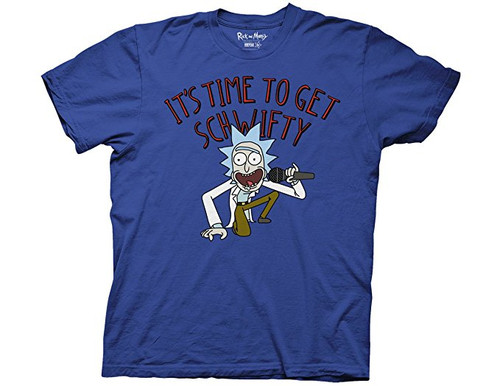 Rick and Morty -It's time to get schwirty 100% Cotton High Quality Pre Shrunk Machine Washable T Shirt