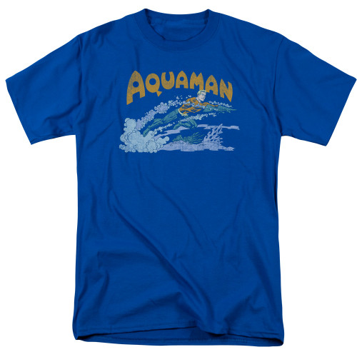 Aquaman-Aqua swim 100% cotton high quality pre shrunk machine washable t-shirt