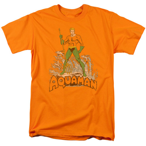 Aquaman-Distressed 100% cotton high quality pre shrunk machine washable t-shirt