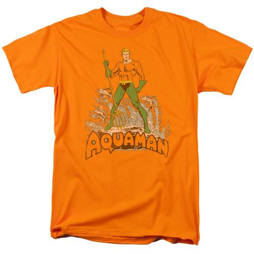 Aquaman-Distressed 100% cotton high quality pre shrunk machine washable t-shirt