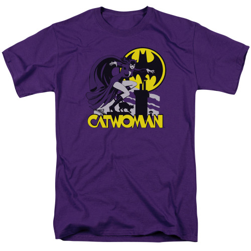 Catwoman Rooftop Cat  adult unisex t-shirt