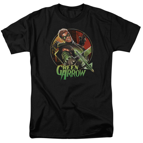 Green Arrow-Sunset Archer 100% cotton high quality pre shrunk machine washable t-shirt