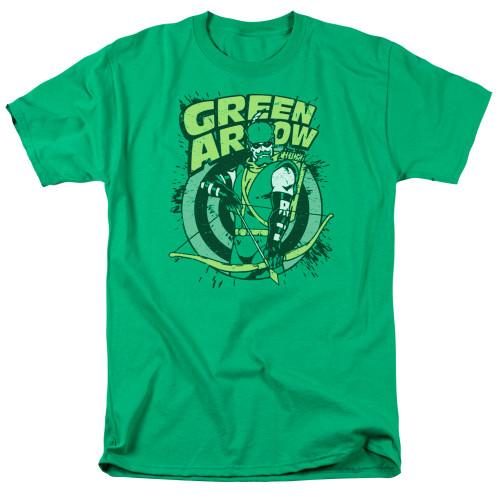 Green Arrow-On Target 100% cotton high quality pre shrunk machine washable t-shirt