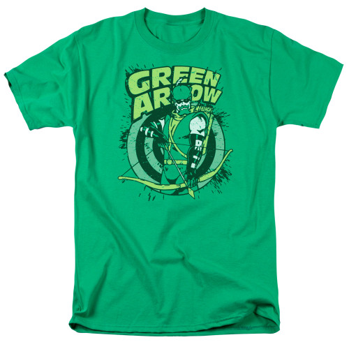 Green Arrow-On Target 100% cotton high quality pre shrunk machine washable t-shirt