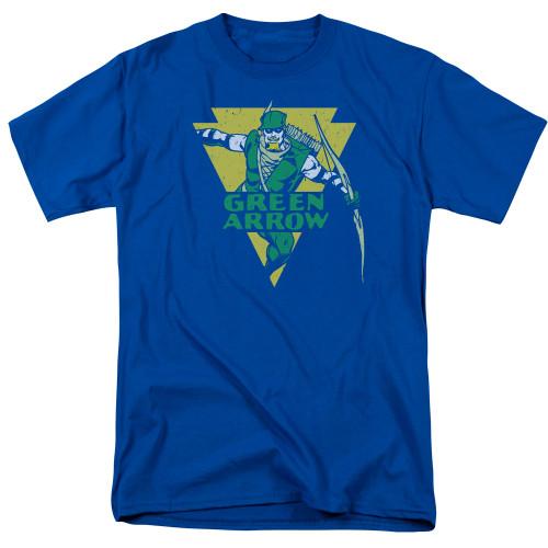 Green Arrow-Distressed Arrow 100% cotton high quality pre shrunk machine washable t-shirt