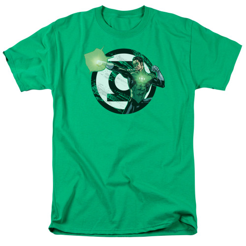 Green Lantern-Blasting Logo 100% Cotton High Quality Pre Shrunk Machine Washable T Shirt