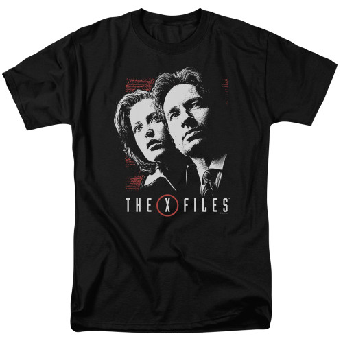 X-files-Mulder and Scully 100% Cotton High Quality Pre Shrunk Machine Washable T Shirt