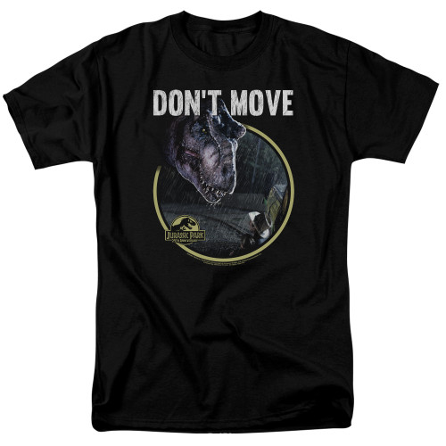 Jurassic Park Don't Move 100% Cotton High Quality Pre Shrunk Machine Washable T Shirt