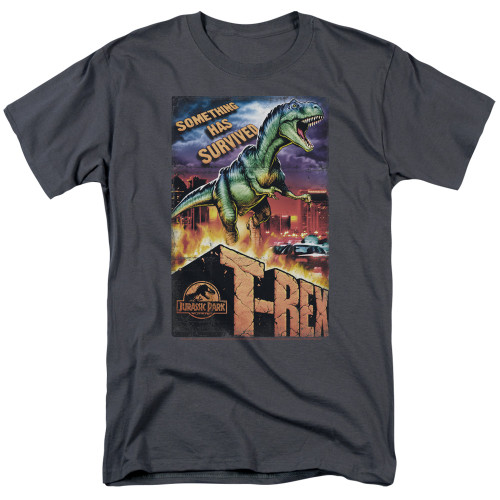 Jurassic park Rex in the City 100% Cotton High Quality Pre Shrunk Machine Washable T Shirt