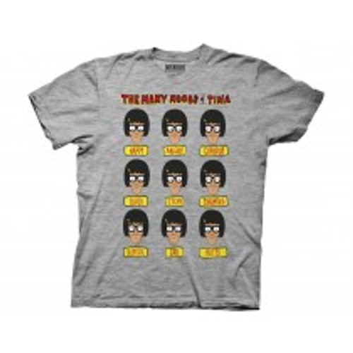 Bob's Burgers-Many moods of Tina 100% Cotton High Quality Pre Shrunk Machine Washable T Shirt