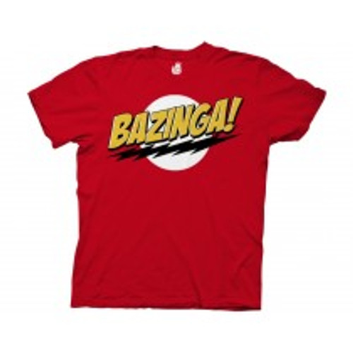 Big Bang theory bazina red 100% Cotton High Quality Pre Shrunk Machine Washable T Shirt