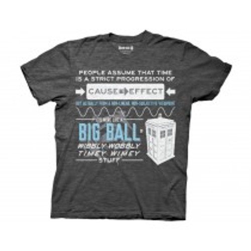 Dr Who  Wibbly Wobbly Quote 100% Cotton High Quality Pre Shrunk Machine Washable T Shirt