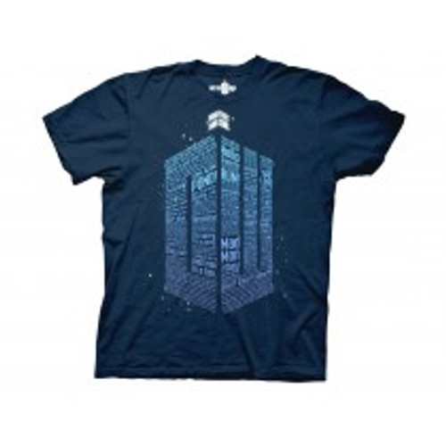 Dr Who logo of words 100% Cotton High Quality Pre Shrunk Machine Washable T Shirt