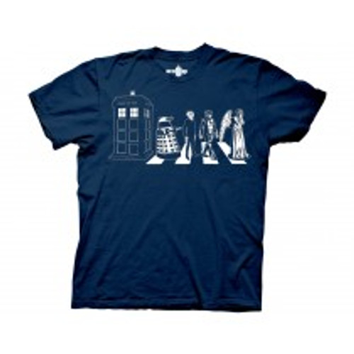Dr Who-Detailed street crossing 100% Cotton High Quality Pre Shrunk Machine Washable T Shirt