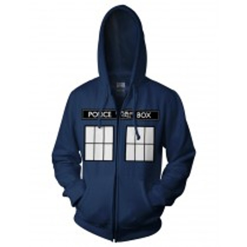 Dr. Who Call Box Window Zip Hoodie