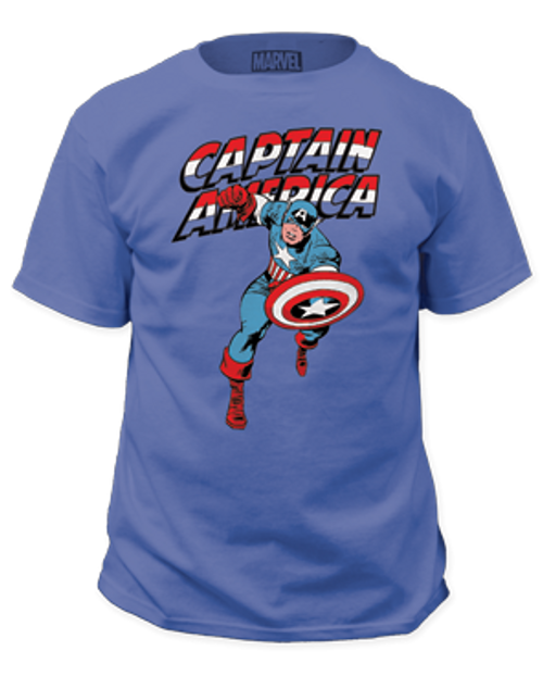 Capt America Red white and blue 100% Cotton High Quality Pre Shrunk Machine Washable T Shirt
