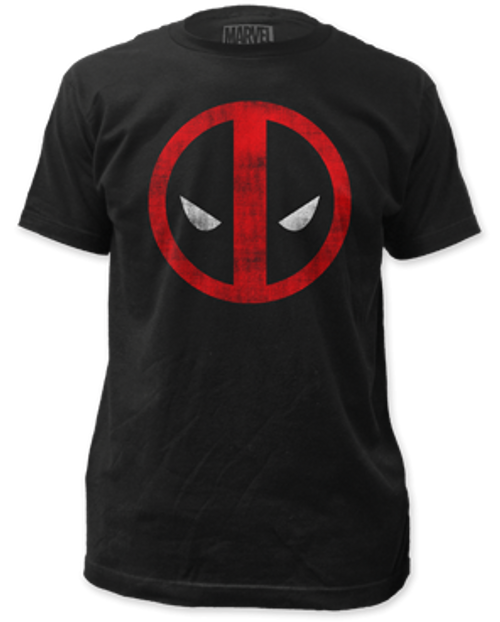 Deadpool distressed logo 100% Cotton High Quality Pre Shrunk Machine Washable T Shirt