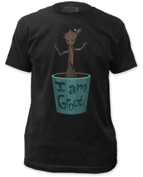 Guardian of the galaxy-dancing groot 100% Cotton High Quality Pre Shrunk Machine Washable T Shirt