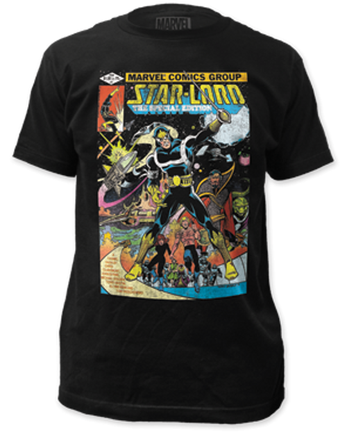 Guardian of Galaxy-Star lord cover 100% Cotton High Quality Pre Shrunk Machine Washable T Shirt