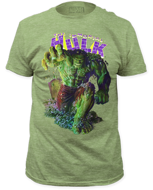 Incredible Hulk-Immortal Hulk 100% Cotton High Quality Pre Shrunk Machine Washable T Shirt