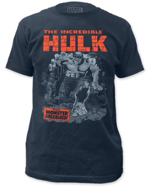 Incredible Hulk-Breakthrough 100% Cotton High Quality Pre Shrunk Machine Washable T Shirt